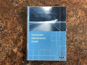 ford scheduled maintenance guide   owners