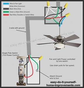 Wiring A Ceiling Fan With Remote And Two Switches
