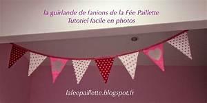 Guirlande Fanion Tissu : les astuces de f e paillette le tuto facile de la guirlande de fanions ~ Teatrodelosmanantiales.com Idées de Décoration