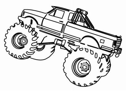 Coloring Monster Truck Pages Printable Drawing Jam