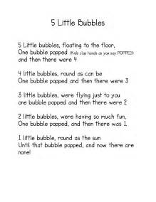 Bubble Poems Kindergarten