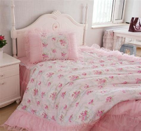 shabby chic comforter sets king queen full twin princess shabby floral chic pink duvet comforter cover set ebay