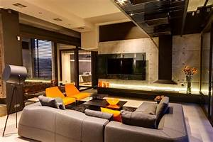exposed concrete wall living room sofa lighting With modern living room furniture south africa
