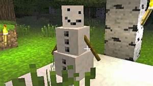 Minecraft 1.9 Snow Golem NEW MOB (Craftable Snowmen ...