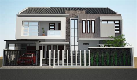 contoh desain fasad rumah minimalis modern jurnal