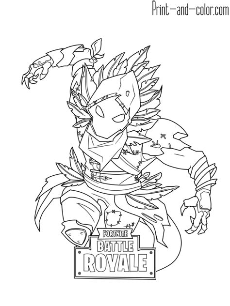 Kleurplaat Fortnite Drift by Fortnite Coloring Pages Print And Color Colin S