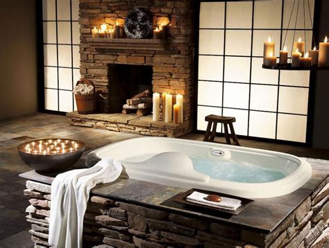 10 Mesmerizing Luxury Bathrooms With Fireplaces That You Kitchen Design Drawings Open Concept Designs Uk Cool Ideas Scandinavian And Bedroom Cabinet Door Small Interior