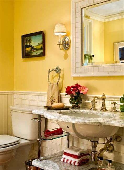 yellow bathroom design ideas interiorholiccom