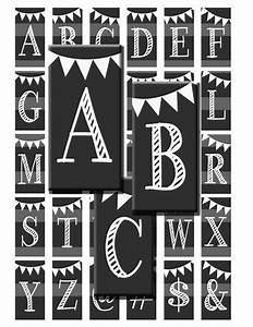 chalk alphabet letters initials monogram chalkboard With chalk stencils letters