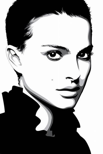 Natalie Vector Portrait Deviantart Portman Needles Pop