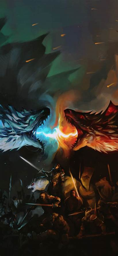 Thrones Dragon Dragons Fan Battle Fire Wallpapers