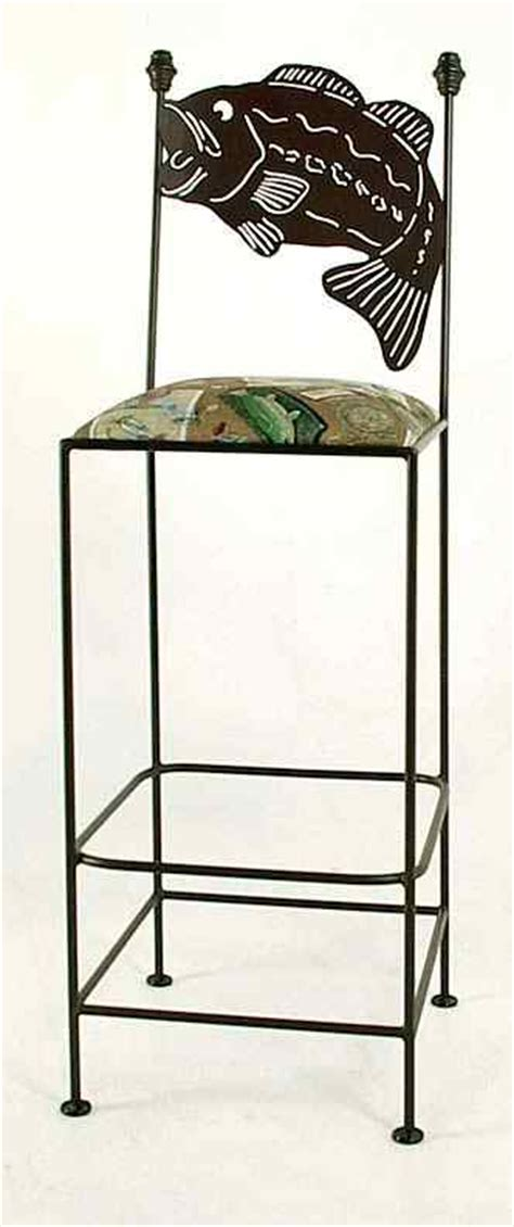 bass fish barstools tables