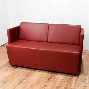 Lounge Sofa Leder : sofa lounge empfang leder orange couch b rost hle ~ Watch28wear.com Haus und Dekorationen