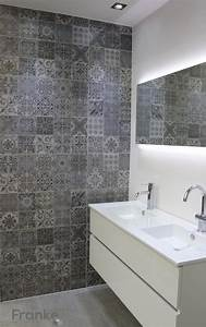 Bodenfliesen Für Dusche : betonlook mit ornamenten betonlook badezimmer beton ~ Michelbontemps.com Haus und Dekorationen