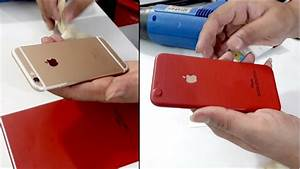 Iphone 6s Converted In Red Edition With Apple Red Skin Lamination Wrap