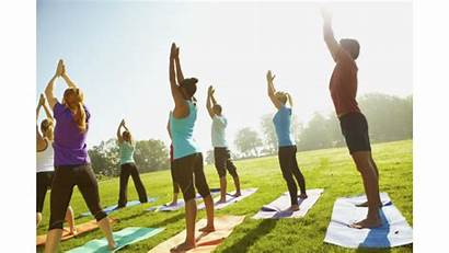 Yoga Class Fitness Outside Health Exercise Practice