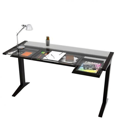 dessus de bureau en verre leo bureau valsecchi en bois plateau en verre 140 x 60
