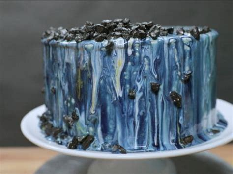 galaxy mirror glaze recipe food network kitchen food
