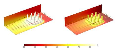 heat sink materials comparison conjugate heat transfer comsol