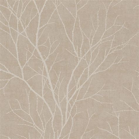 rasch twig tree branch pattern wallpaper modern non woven textured 455908 taupe white i want