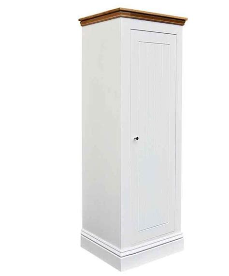Slim Wardrobe Armoire by Solid Construction No Veneers Solid Oak Top Or Painted All