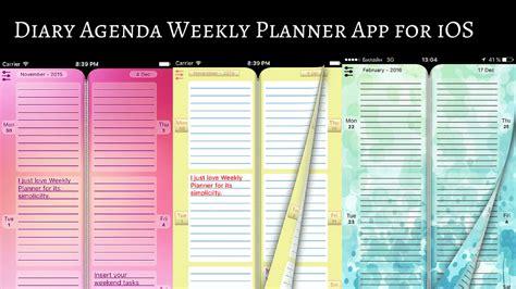 plan  activities  diary agenda weekly planner app