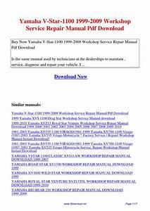 Yamaha V-star-1100 1999-2009 Workshop Service Repair Manual By Gipusi Samu