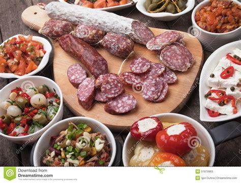cuisine espagnole tapas tapas food stock photo image 51870863