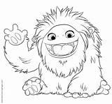 Yeti Coloring Abominable Ninjago Printable Animation Film Template Kleurplaat sketch template