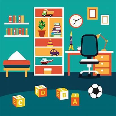 Boy Kid Vector Student Illustration Bedroom Playroom