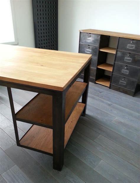 bureau acier bureau bois et acier 2 meuble industriel