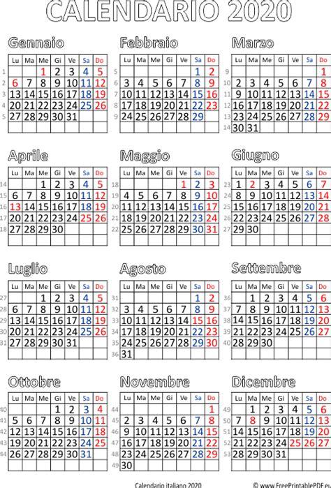 calendario italia stampabile liberi stampa