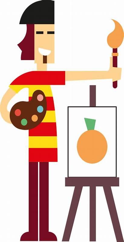 Artist Clipart Clip Openclipart Pintor Naranja Onlinelabels