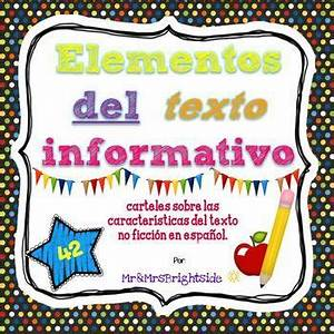 Text Features Powerpoint Text Features In Spanish Elementos Del Texto Informativo