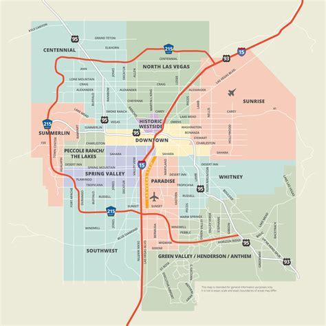 map  vegas map vegas united states  america