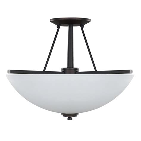 rubbed bronze flush mount light shop canarm new yorker 15 in w rubbed bronze