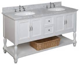 beverly 60 inch double sink bath vanity carrara white