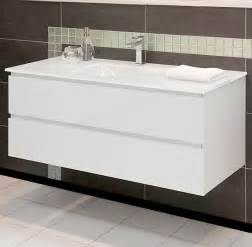 Vanity With Glass Top by Allure Bathrooms Nova 1200w White Glass Top Wall Mount