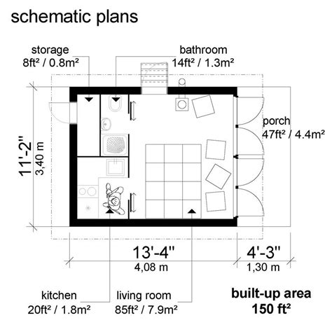small house plans  shed roof