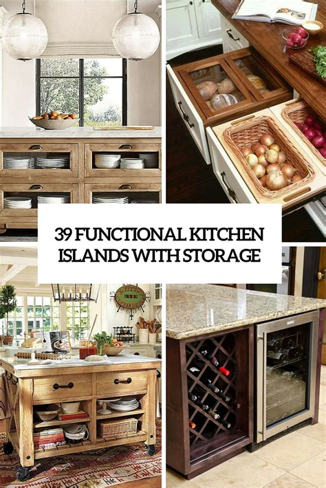 kitchen island ideas  storage digsdigs