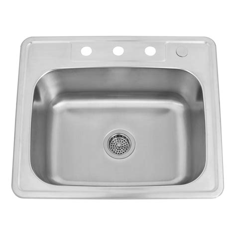 25 stainless steel kitchen sink 25 quot infinite rectangular stainless steel drop in sink