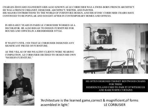 Le Glühbirnen Design by Le Corbusier Chair Designs