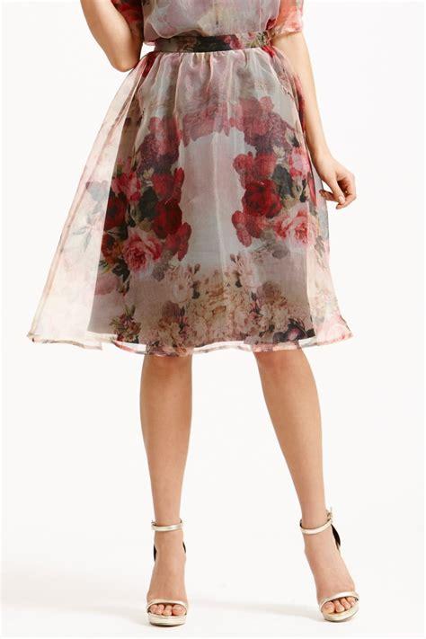 organza a line skirt floral organza a line skirt