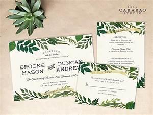digital wedding invitation set printable botanical wedding With digital wedding invitation with photo