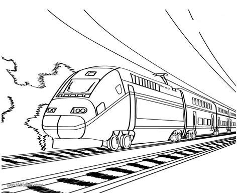 working sheet  bullet train  preschoolers coloring