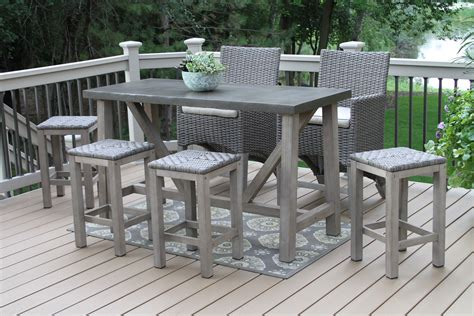 Outdoor Bar Furniture by Resin Patio Table With Removable Legs Ideas Tables