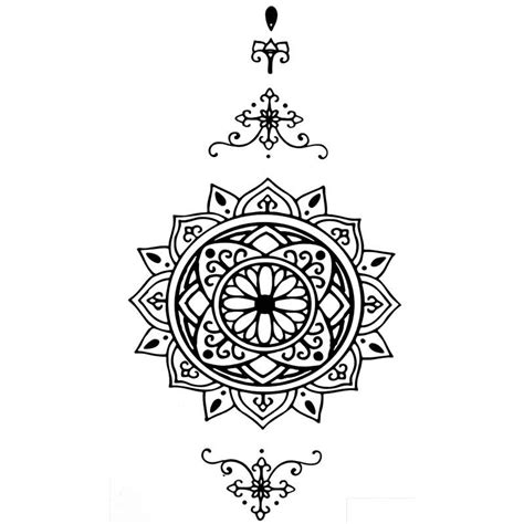 Tatouage Ephemere Mandala Tempotattoo
