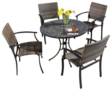 home styles harbor table 4 newport arm chairs in
