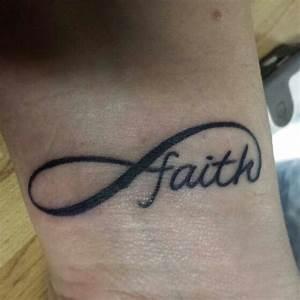 Infinity Faith Wrist Tattoo (: | Tattoo Ideas | Pinterest ...