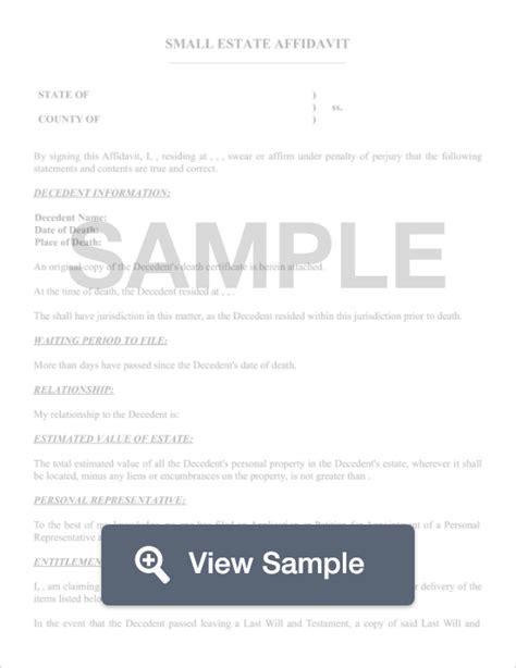 free small estate affidavit form north carolina affidavit of small estate create download for free